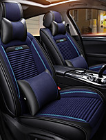 baratos -ODEER Encostos de cabeça Almofadas de cintura Capas de assento Preto/Azul Têxtil PU Leather Comum for Universal Todos os Anos Todos os