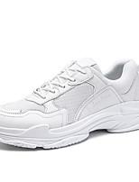 Недорогие -Муж. обувь Тюль / Дерматин Осень / Зима Удобная обувь Кеды Для прогулок Белый / Черный / Красный