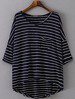 cheap -Women's Holiday Basic Loose Blouse - Striped, Print