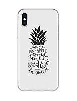 preiswerte -Hülle Für Apple iPhone X iPhone 8 Plus Muster Rückseite Wort / Satz Frucht Cartoon Design Weich TPU für iPhone X iPhone 8 Plus iPhone 8