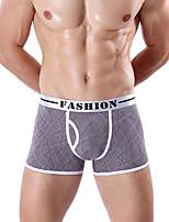 cheap -Men's Boxers Underwear Solid Colored Color Block Low Rise