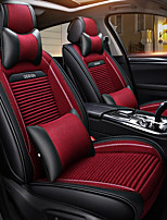 cheap -ODEER Headrests Waist Cushions Seat Covers Black/Red Textile PU Leather Common for universal All years All Models