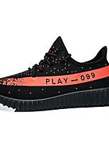 abordables -Homme Chaussures Tissu Printemps / Eté Confort Basket Preto e Prateado / Noir / blanc / Orange & noir
