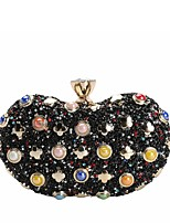 cheap -Women's Bags Evening Bag Crystal Detailing Pearl Detailing for Wedding Event / Party All Seasons Blue Gold Black Silver Red