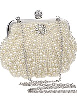 cheap -Women's Bags Terylene Evening Bag Crystals / Pearls for Event / Party Gold / White