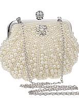 preiswerte -Damen Taschen Terylen Abendtasche Kristall Verzierung / Perlen Verzierung für Veranstaltung / Fest Gold / Weiß