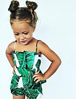 Недорогие -малыш Девочки Цветочный принт Без рукавов 1 предмет