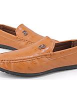 abordables -Homme Chaussures PU de microfibre synthétique Printemps Automne Moccasin Mocassins et Chaussons+D6148 pour Décontracté Noir Marron