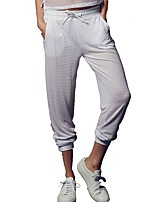 cheap -Women's Running Pants Fast Dry Pants / Trousers Outdoor Exercise Spandex White / Black M / L / XL