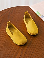 cheap -Girls' Shoes Nubuck leather Spring Fall Comfort Loafers & Slip-Ons for Casual Beige Light Yellow Red