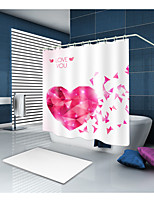 cheap -Shower Curtains & Hooks Contemporary Modern Polyester Contemporary Novelty Waterproof Bathroom