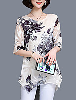cheap -Women's Basic Street chic Blouse-Floral,Print