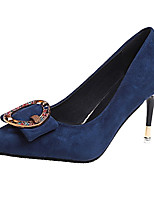 preiswerte -Damen Schuhe PU Frühling Komfort High Heels Stöckelabsatz Spitze Zehe Strass Schwarz / Rot / Königsblau
