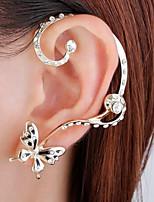 abordables -Femme Décalage Papillon Boucles d'oreille goujon / Poignets oreille - simple / Décalage / Mode Or Des boucles d'oreilles Pour Mariage /