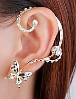 cheap -Women's Mismatch Butterfly Stud Earrings / Ear Cuff - Simple / Mismatch / Fashion Gold Earrings For Wedding / Party / Evening