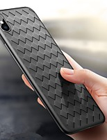 abordables -Funda Para Apple iPhone X iPhone 8 Ultrafina En Relieve Funda Trasera Líneas / Olas Suave TPU para iPhone X iPhone 8 Plus iPhone 8 iPhone