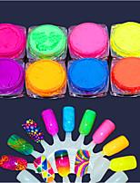 abordables -8pcs Sacs à outils Glamour à Paillettes Matériel d'Arts Plastiques Conseils d'art des ongles Nail Art Design