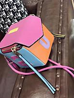 preiswerte -Damen Taschen PU Umhängetasche Knöpfe Regenbogen