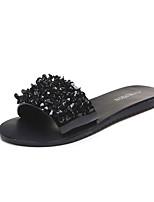 cheap -Women's Shoes PU Summer Comfort Slippers & Flip-Flops Flat Heel for Black Silver