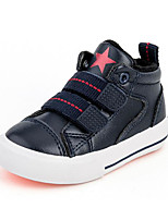 cheap -Girls' Boys' Shoes Leatherette Spring Fall First Walkers Comfort Sneakers for Casual Black Dark Blue