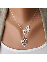 cheap -Women's Leaf Choker Necklace  -  Simple Cartoon Fashion Gold Silver 44cm Necklace For Wedding Gift