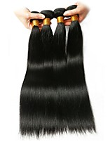 cheap -Indian Hair Straight Natural Color Hair Weaves / Extension / Human Hair Extensions 4 Bundles Human Hair Weaves Extention / Hot Sale Natural Black Human Hair Extensions All
