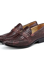 cheap -Men's Shoes Leatherette Spring Fall Formal Shoes Loafers & Slip-Ons Side-Draped for Office & Career Party & Evening Black Brown Red