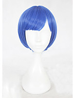 cheap -Synthetic Wig Straight Bob Haircut Natural Hairline Blue Women's Capless Cosplay Wig Short Synthetic Hair Christmas