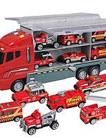 cheap -Toy Car Truck Construction Truck Set Fire Engine Vehicle Music Vehicles Glow Plastic Shell Kid's Gift 7pcs