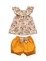 cheap -Kids Toddler Girls' Floral Sleeveless Clothing Set