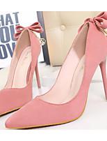 baratos -Mulheres Sapatos Pele Nobuck Primavera / Outono Conforto / Plataforma Básica Saltos Salto Agulha Preto / Cinzento / Rosa claro