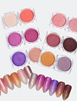 baratos -12pcs Pó acrílico Nail Glitter Glitter Powder Nail Glitter Brilho & Glitter Nail Art Design