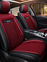 cheap -ODEER Seat Covers Black/Red Textile PU Leather Common for universal All years All Models