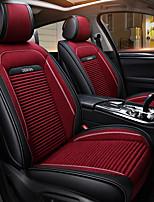 abordables -ODEER Couvre-siège Noir/Rouge Textile faux cuir Normal for Universel Toutes les Années Tous les modèles