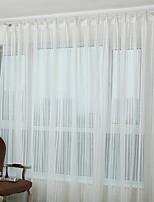 baratos -Sheer Curtains Shades Quarto Contemporâneo Algodão / Poliéster Bordado