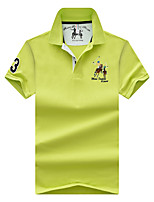 cheap -Men's Basic Street chic Polo - Solid Colored, Embroidered