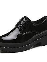 abordables -Femme Chaussures Polyuréthane Printemps Automne Confort Oxfords Talon Bottier pour Noir Argent