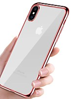 abordables -Funda Para Apple iPhone X iPhone 8 Cromado Ultrafina Cuerpo transparente Funda Trasera Un Color Suave TPU para iPhone X iPhone 8 Plus