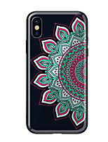 baratos -Capinha Para Apple iPhone X iPhone 8 Estampada Capa traseira Mandala Rígida Vidro Temperado para iPhone X iPhone 8 Plus iPhone 8 iPhone 7