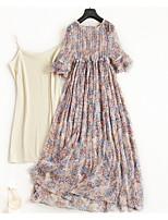 cheap -Women's Vintage Street chic A Line Swing Dress - Polka Dot Geometric