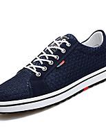 Недорогие -Муж. обувь Тюль Весна / Лето Удобная обувь Кеды Черный / Серый / Синий