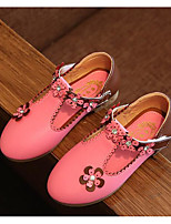 cheap -Girls' Shoes PU Spring Fall Tiny Heels for Teens Flower Girl Shoes Heels for Casual White Peach Pink