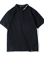 cheap -Men's Basic Polo - Solid Colored, Embroidered