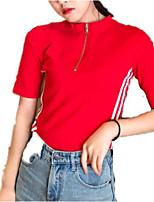 preiswerte -Damen Gestreift - Grundlegend T-shirt Druck