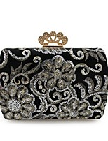 cheap -Women's Bags Velvet Evening Bag Crystals for Event / Party / Casual Blue / Black / Wine