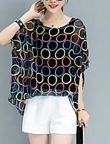 cheap -Women's Basic Street chic Blouse - Geometric
