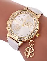 preiswerte -Damen Quartz Modeuhr Chinesisch Armbanduhren für den Alltag PU Band Charme Modisch Schwarz Weiß Blau Gold Lila Rose