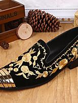 Недорогие -Муж. обувь Наппа Leather Шёлк Весна Осень Удобная обувь Мокасины и Свитер для Повседневные Для вечеринки / ужина Золотой