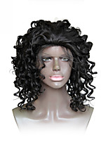 cheap -Synthetic Wig Curly Bob Haircut Heat Resistant For Black Women African American Wig Black Women's Lace Front Capless Halloween Wig
