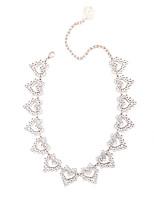 abordables -Collier court / Ras-du-cou  -  Cœur Doux, Mode Argent 40 cm Colliers Tendance Pour Quotidien, Soirée